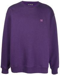 Acne Studios Толстовка С Нашивкой-логотипом - Пурпурный