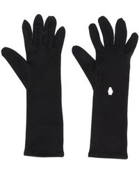 Styland Slip-on Embroidered Gloves - Black