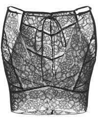 Kiki de Montparnasse Bralet mit Spitzenmuster - Schwarz