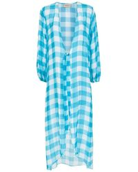Adriana Degreas - Checked Robe - Lyst