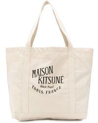 Maison Kitsuné - Bolso de hombro con logo estampado - Lyst