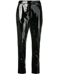 MSGM - Slim Fit Vinyl Trousers - Lyst