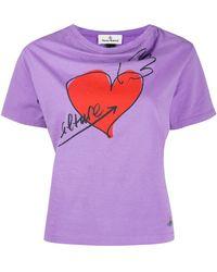 Vivienne Westwood Anglomania ハート Tシャツ - パープル
