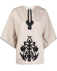 Bazar Deluxe Embroidered Pattern Blouse - Multicolour