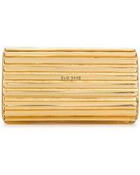 Elie Saab - Metallic Clutch Bag - Lyst