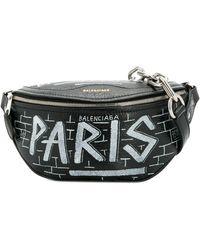 Balenciaga Souvenir Graffiti Belt Bag - Black