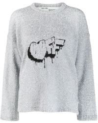 Off-White c/o Virgil Abloh シルバー Bubble Off セーター - メタリック
