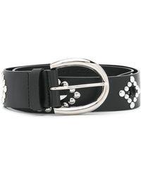 Orciani Studded Leather Belt - Black
