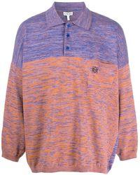 Loewe Long-sleeve Colour-block Polo Shirt - Multicolour