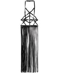 Manokhi フリンジトップス - ブラック