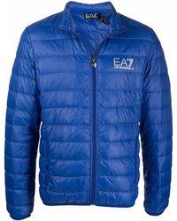 EA7 ロゴ パデッドジャケット - ブルー