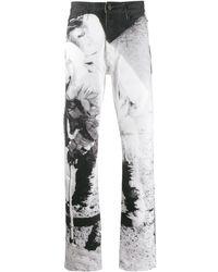 CALVIN KLEIN JEANS EST. 1978 Moon Landing Print Jeans - White