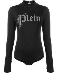Philipp Plein Боди С Логотипом - Черный
