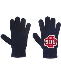 DSquared² Перчатки С Вышитым Логотипом - Синий