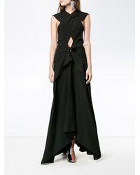 Proenza Schouler Sleeveless Cross-over Long Dress - ブラック