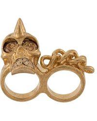 Alexander McQueen Pre-owned Skull Ring - Metallic