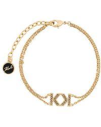Karl Lagerfeld - Bracelet Double K - Lyst