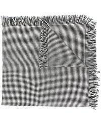 Loewe Шарф В Ломаную Клетку - Серый