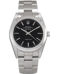 Rolex 2000s pre-owned Air-King Precision 34mm - Schwarz