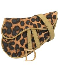 Dior Pre-owned Saddle-Bag mit Leopardenmuster - Braun