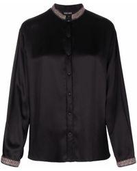 Giorgio Armani Wool-silk Blend Blouse - Black