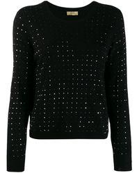 Liu Jo Studded Fine Knit Jumper - Black