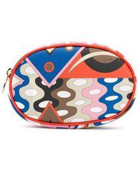 Emilio Pucci Abstract-print Makeup Bag - Blue