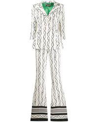 Elisabetta Franchi Completo due pezzi a quadri - Bianco