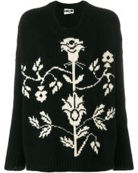 Hache - Floral Crew Neck Sweater - Lyst