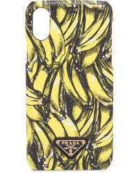 Prada Iphone X Cover - Yellow