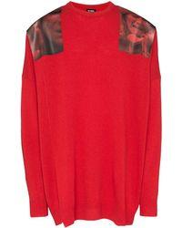 Raf Simons Jersey con apliques - Rojo