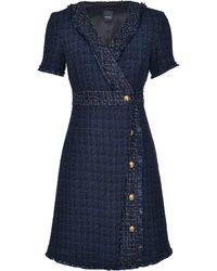 Pinko Tweed-Kleid - Blau