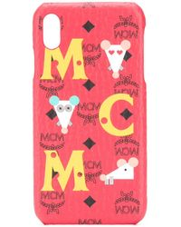 MCM Logo Iphone Xs Max Cover - Red