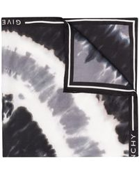 Givenchy Платок С Принтом Тай-дай - Черный
