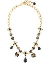 Dolce & Gabbana ラインストーン ネックレス - メタリック