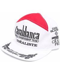 CASABLANCA メッシュパネル キャップ - ホワイト
