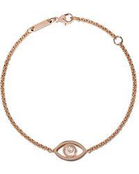 Chopard 18kt Rose Gold Good Luck Charms Diamond Bracelet - Многоцветный