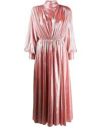 MSGM Платье С Пышными Рукавами - Розовый