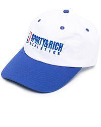 Sporty & Rich エンブロイダリー キャップ - ホワイト