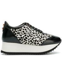 Alexander Smith - Animal Printed Platform Sneakers - Lyst