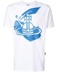 Vivienne Westwood Anglomania - Central Printed Logo T-shirt - Lyst