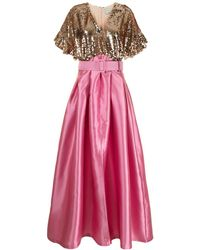 Sachin & Babi スパンコール イブニングドレス - ピンク
