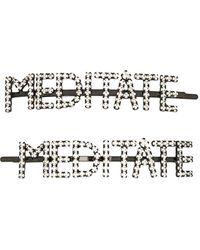 Ashley Williams Meditate ラインストーン ヘアピン - マルチカラー