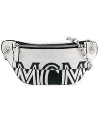 MCM Gürteltasche mit Logo-Print - Weiß