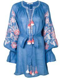 March 11 - Flower Garden Embroidered Mini Dress - Lyst