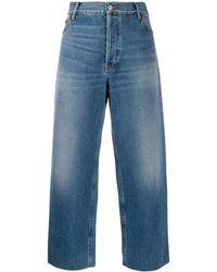 Balenciaga Cropped Denim Trousers - Blue