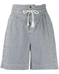 Ba&sh Shorts a righe Osiris - Blu