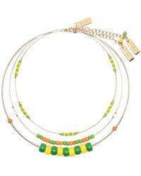 Etro Three-layer Beaded Necklace - Metallic