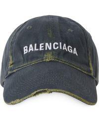 Balenciaga Cappello da baseball con ricamo - Verde