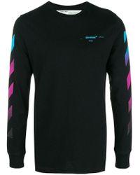 Off-White c/o Virgil Abloh - Diagonal Stripe Cotton Sweatshirt - Lyst